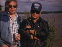 Art Mayo Sr. and Tod Kozevnikoff by the river.
